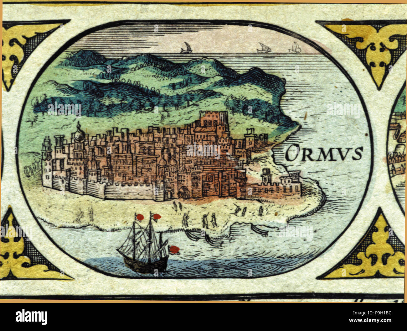 Ormuz, colored engraving from the book 'Le Theatre du monde' or 'Nouvel Atlas', 1645, created, pr… Stock Photo