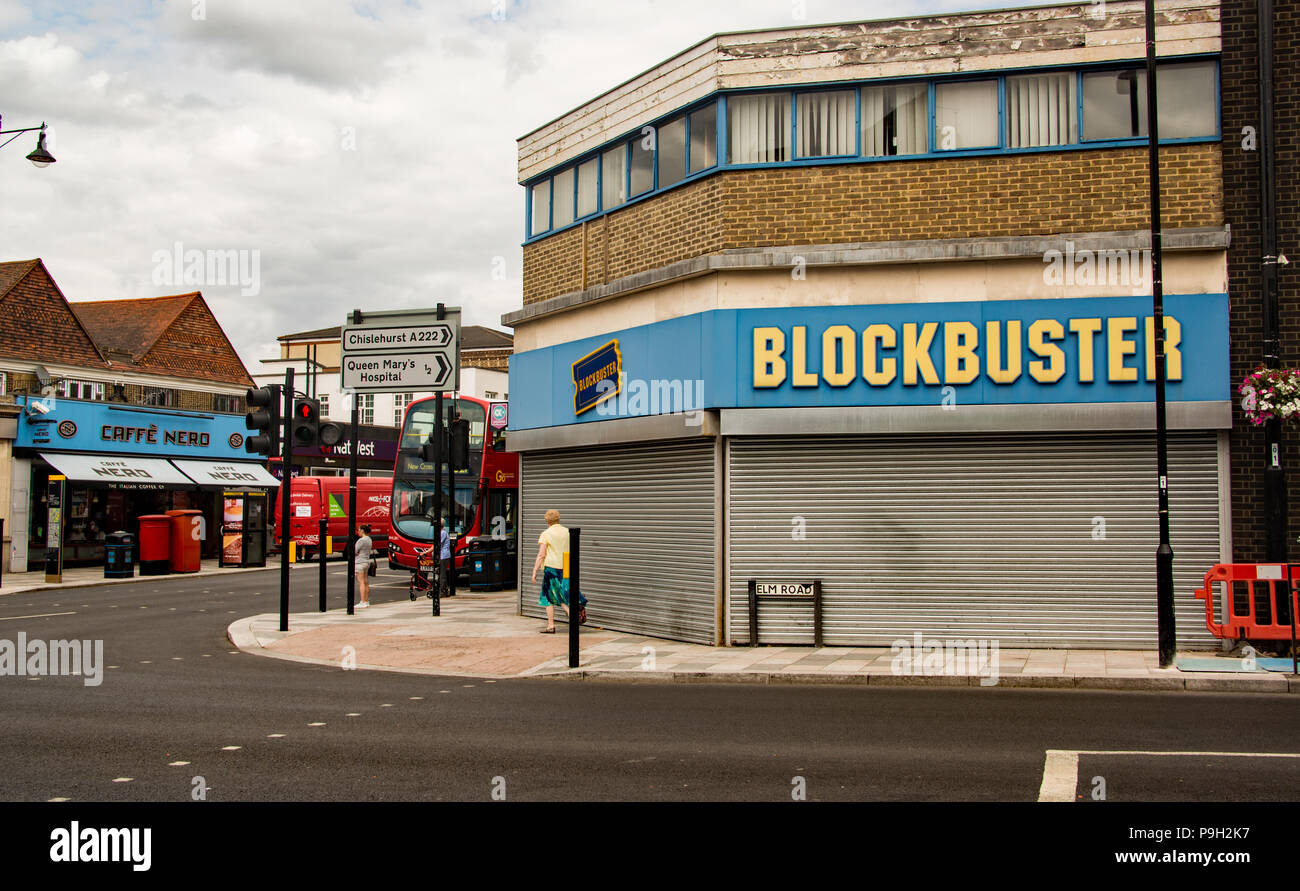 A closed 'Blockbuster' store, Sidcup, Kent, UK - Stock Image