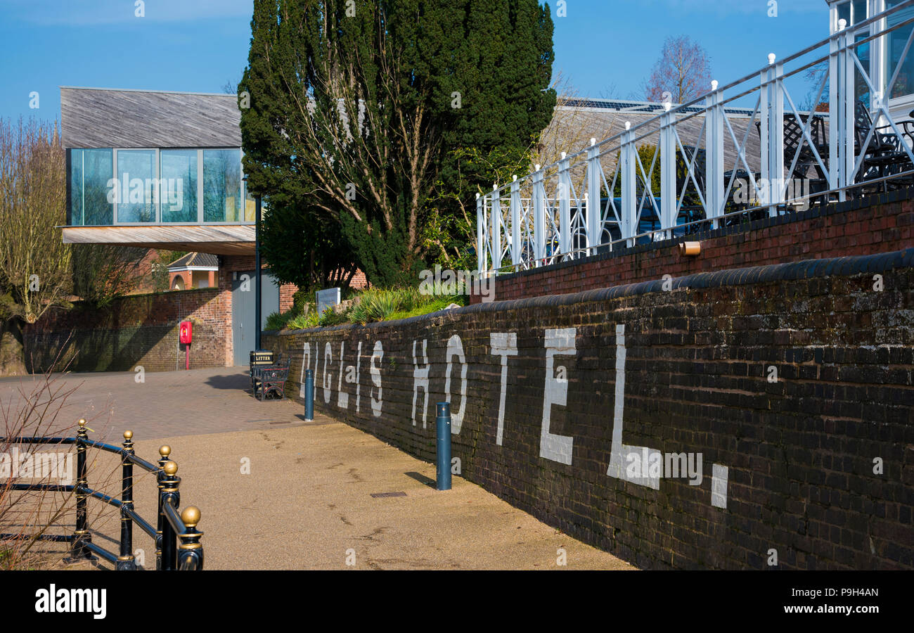 Diglis Hotel and the King's School Boathouse, Worcester, England, Europe - Stock Image