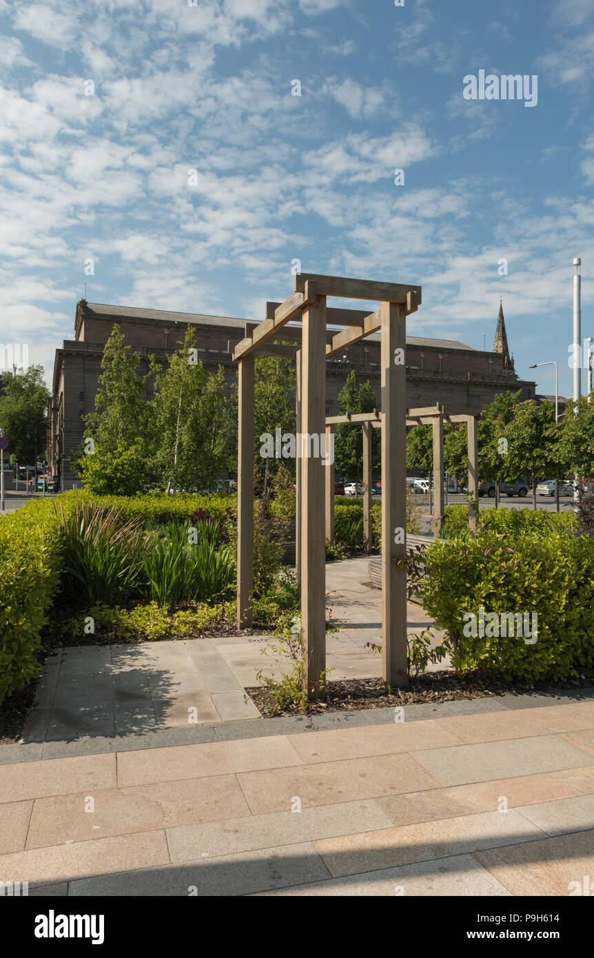The caribbean connections garden in Slessor Gardens is part of the Dundee Waterfront development scheme, Dundee, Scotland, UK. - Stock Image