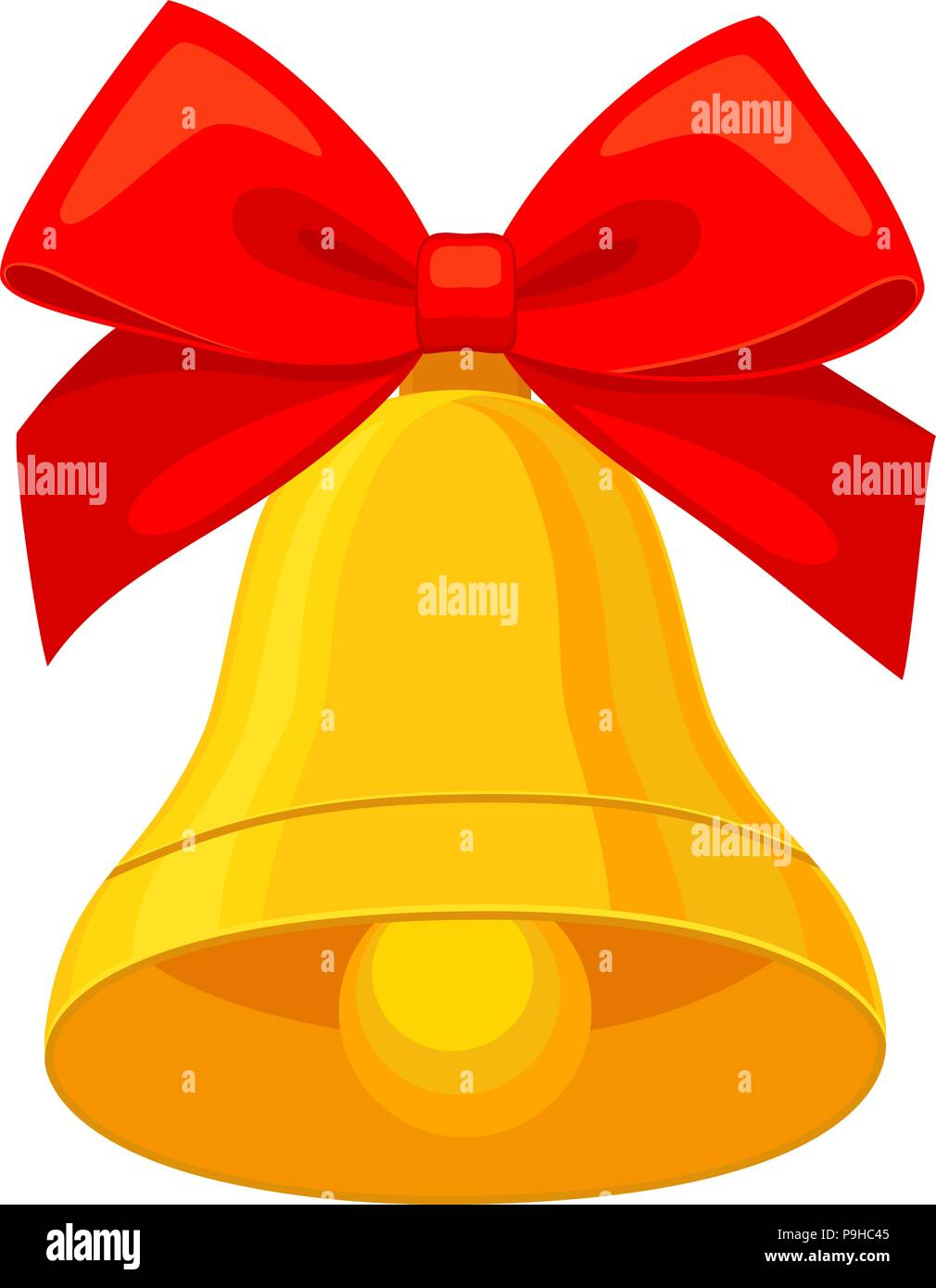 Colorful cartoon christmas bell. Bright new year themed ...