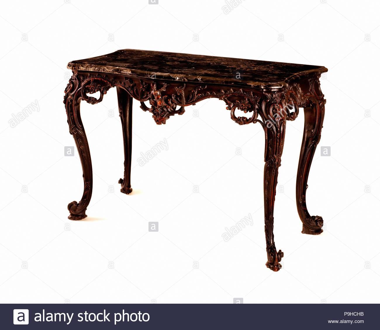 Marble Slab Table, 1765u201370, Made In Philadelphia, Pennsylvania, United  States, American, Mahogany, Marble, Black Walnut, Yellow Pine, 32 3/8 X 48  1/4 X 23 ...