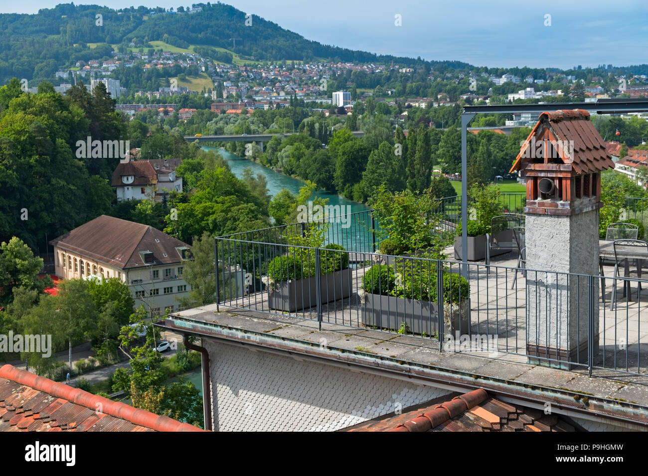 City view to river Aare Bern Switzerland - Stock Image