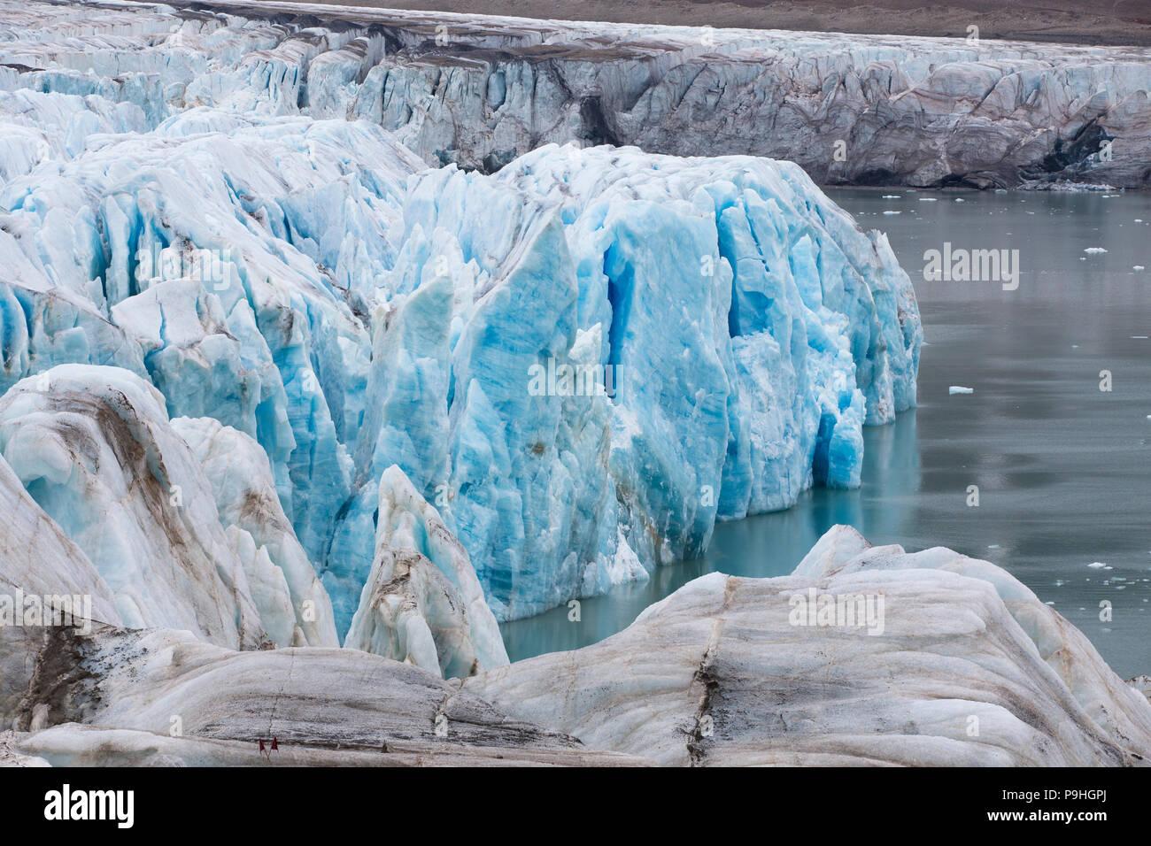 Fourteenth of July Glacier, Svalbard - Stock Image