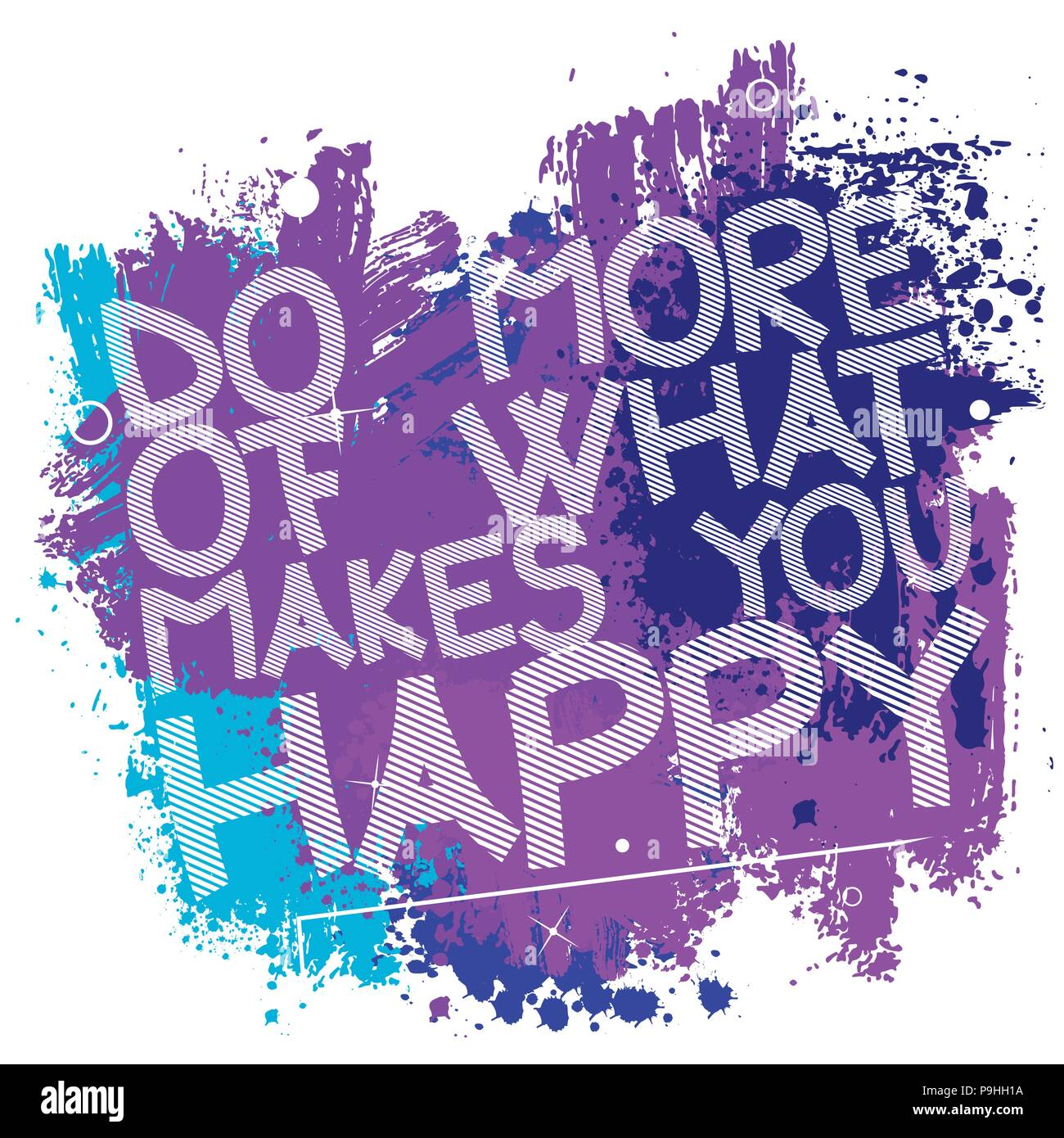 Do More Of What Makes You Happy Vector Illustrated Quote Background