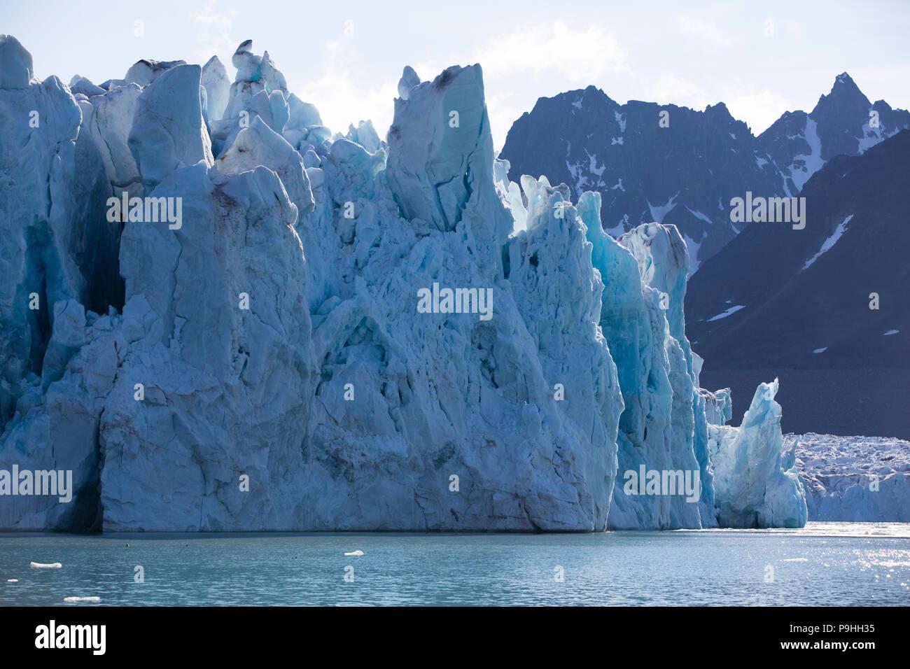 Glacier face, Monacobreen, Svalbard Stock Photo