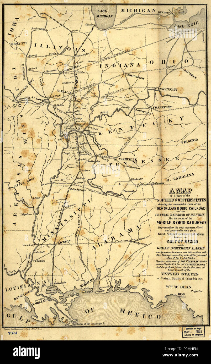 A map of a part of the southern & western states showing the ...