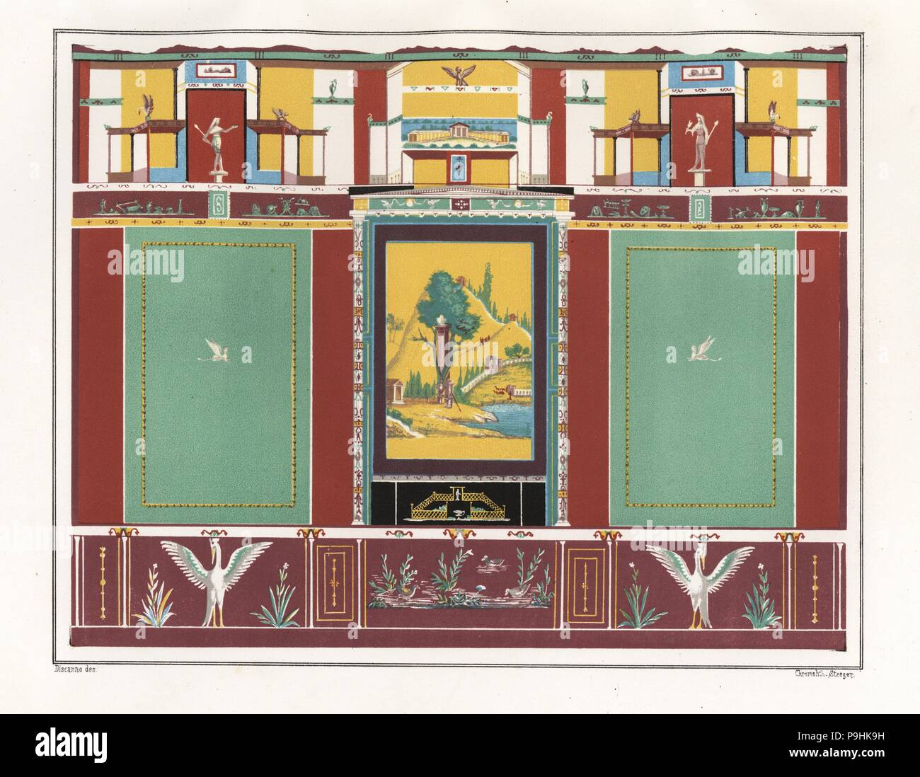 wall painting from the triclinium or dining room in the house of vesonius primus a