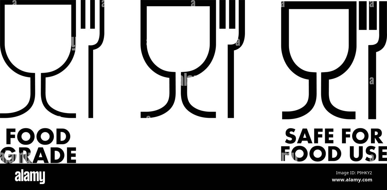 Food Safe Material Sign Wine Glass And Fork Symbol Meaning Plastics
