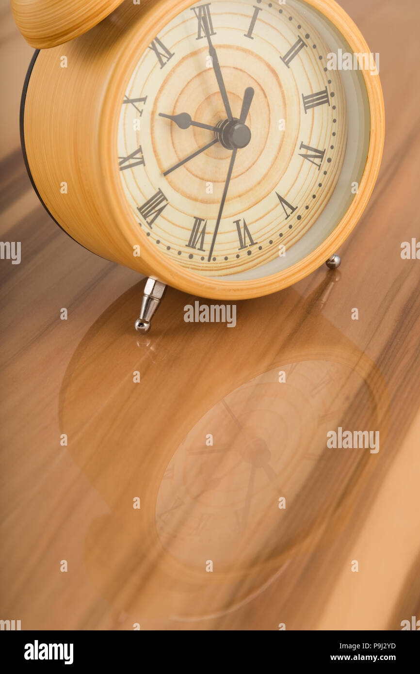 Watches on lacquered surfaces, reflection of objects. Stock Photo