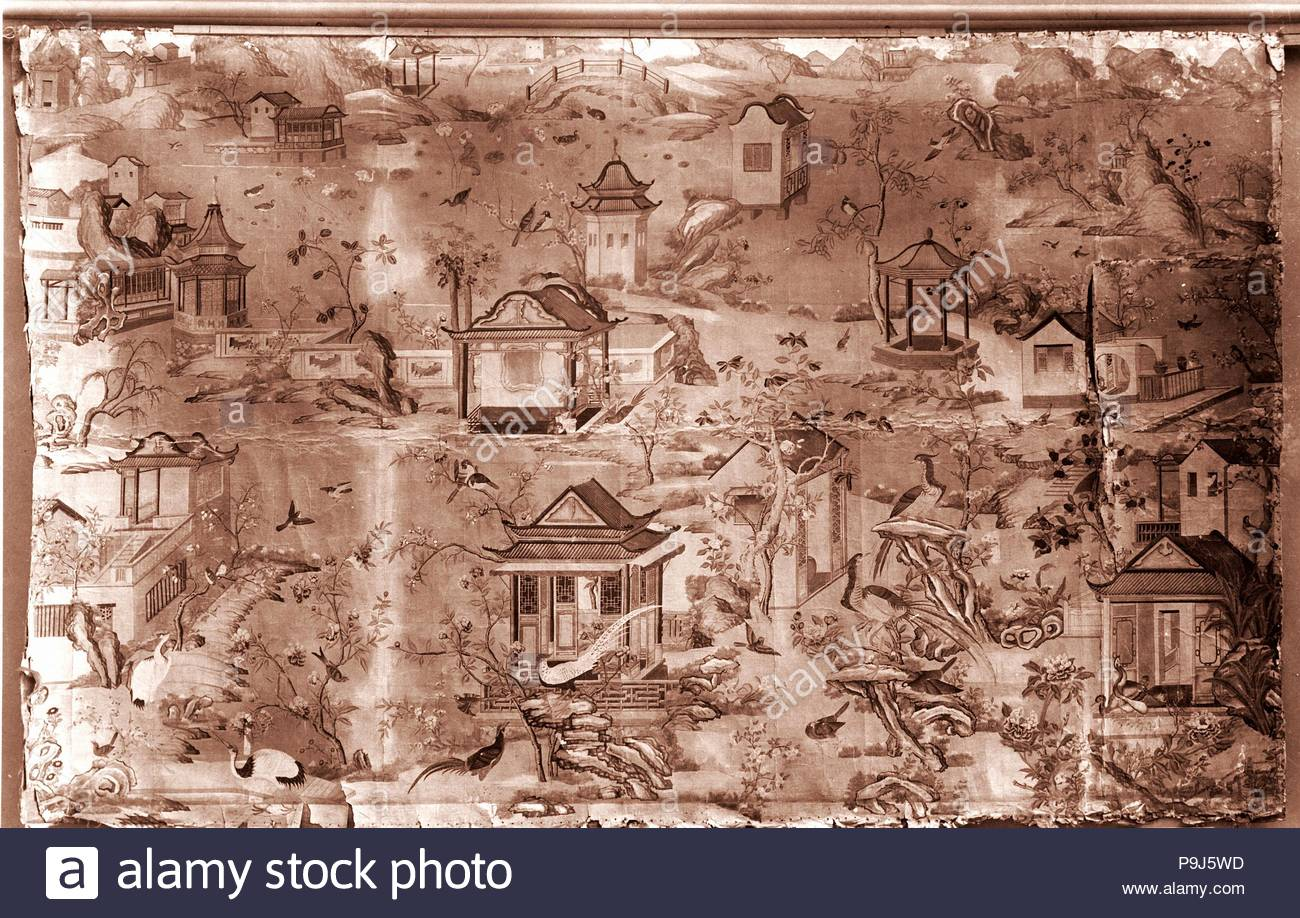 hand painted chinese wallpaper stock photos & hand painted chinese