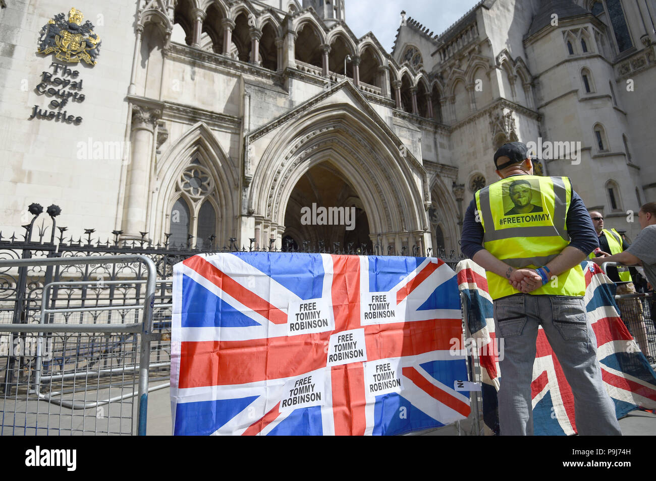 Supporters of former English Defence League (EDL) leader