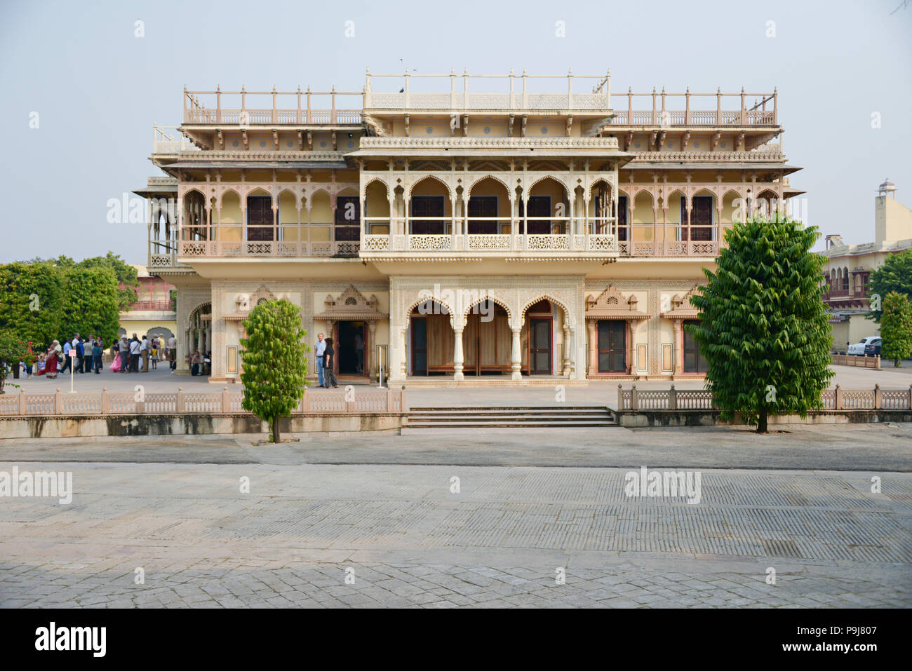 City Palace and Chandra Mahal building in Jaipur Rajasthan India Stock Photo