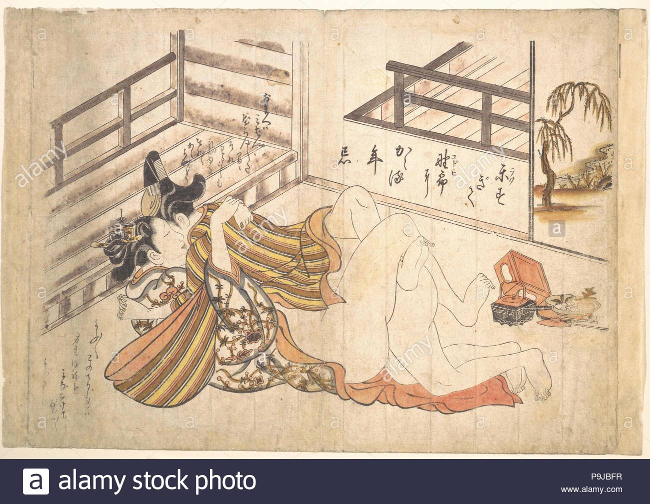 1739 Japan Polychrome Woodblock Print Ink And Color On Paper Hand Colored 10 3 4 X 15 8 In 273 391 Cm Prints Okumura Masanobu Japanese
