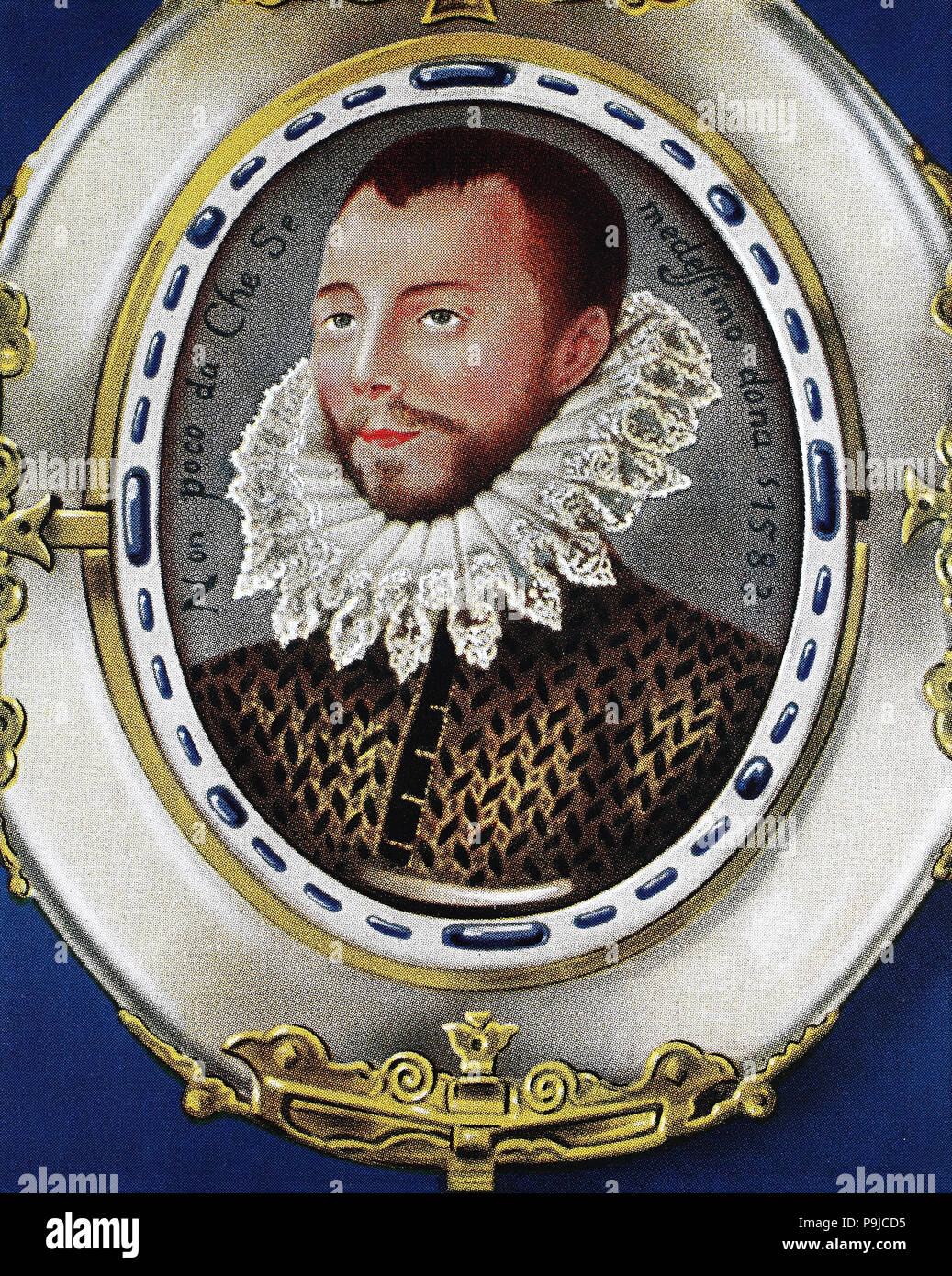 Philip II, Felipe II, 21 May 1527 – 13 September 1598, called the Prudent, el Prudente, was King of Spain, King of Portugal, King of Naples and Sicily, and jure uxoris King of England and Ireland., digital improved reproduction of an original print from the year 1900 - Stock Image