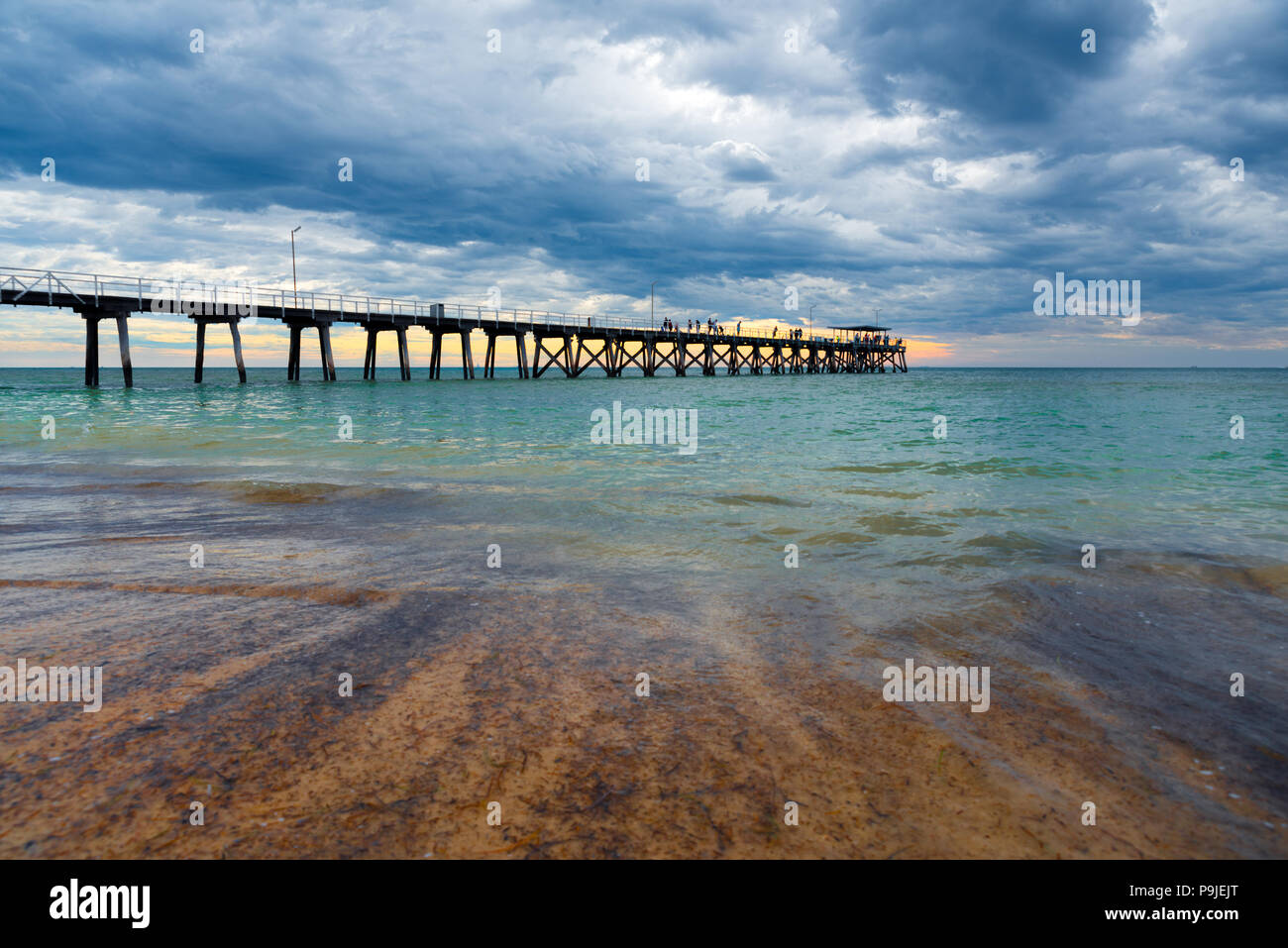 The Largs Bay jetty near Adelaide, South Australia. - Stock Image