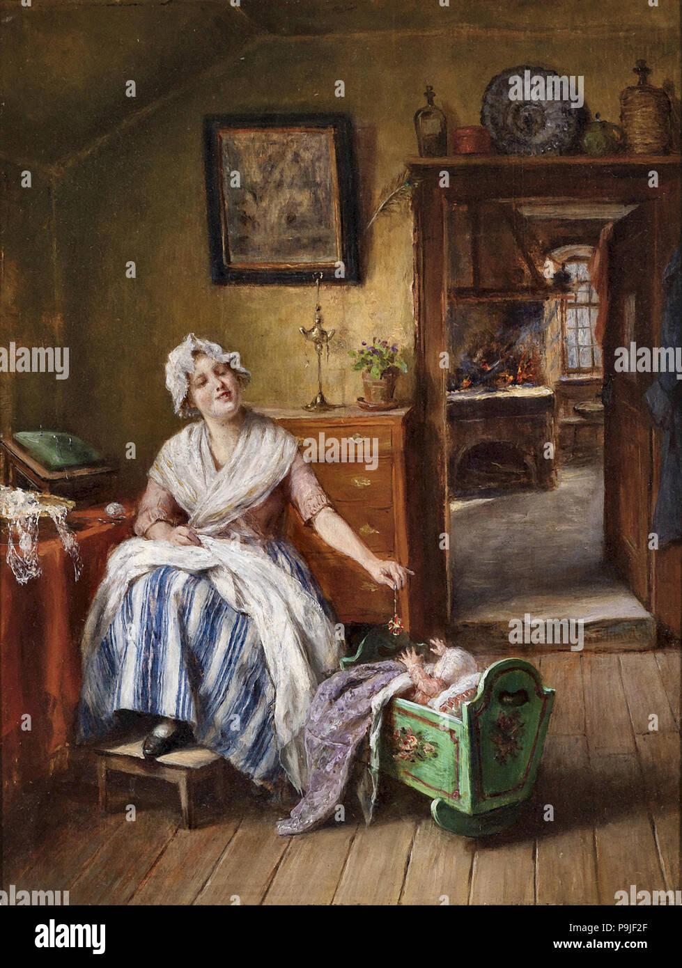 Schmid  Mathias - Liebevolle Mutter Stock Photo