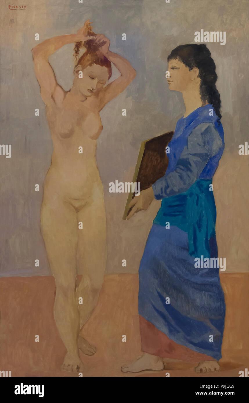 La Toilette, Pablo Picasso, 1906, Albright-Knox Art Gallery, Buffalo, New York, USA, North America - Stock Image