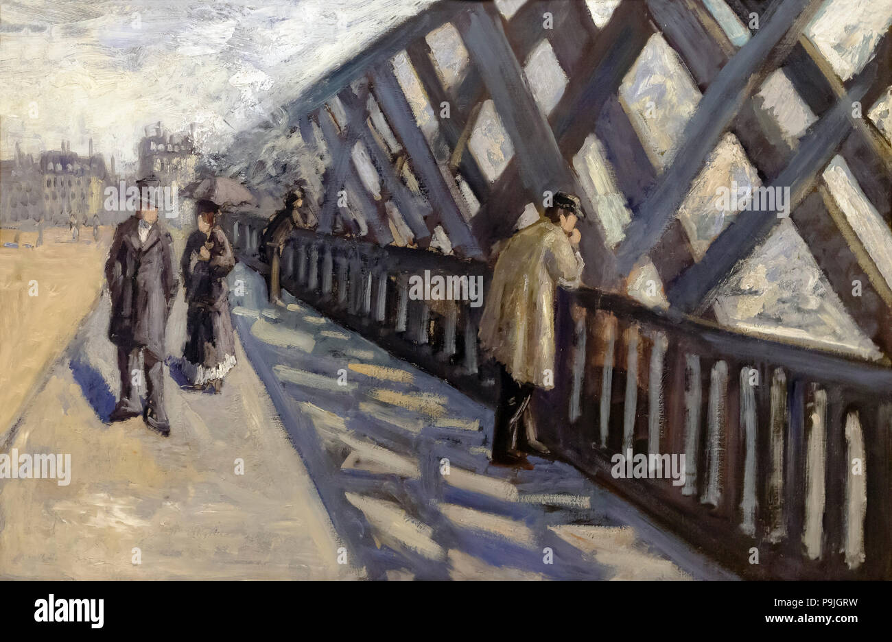 Study for Le Pont de L'Europe, Gustave Caillebotte, 1876, Albright-Knox Art Gallery, Buffalo, New York, USA, North America - Stock Image