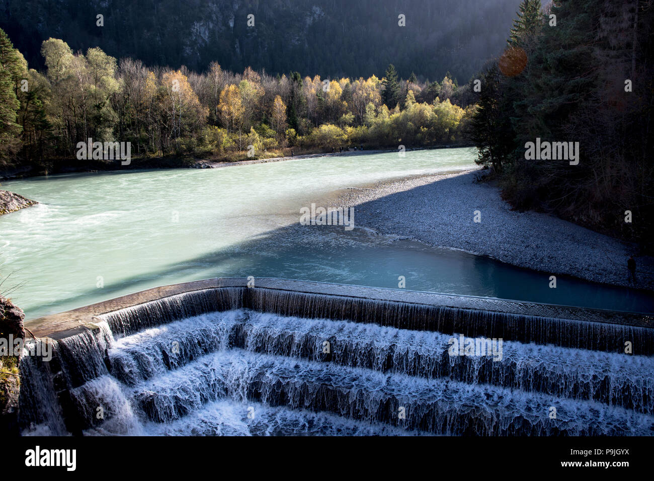 Lechfall near Fussen Stock Photo