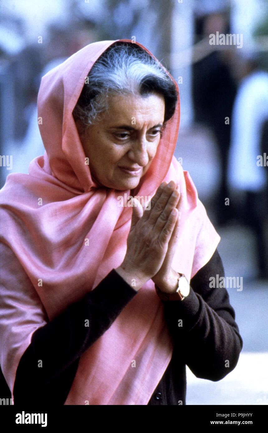 Indira Gandhi (1917-1984), Indian politician. - Stock Image