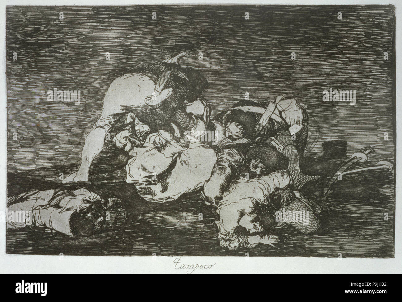 The Disasters of War, a series of etchings by Francisco de Goya (1746-1828), plate 10 (printed 36… Stock Photo