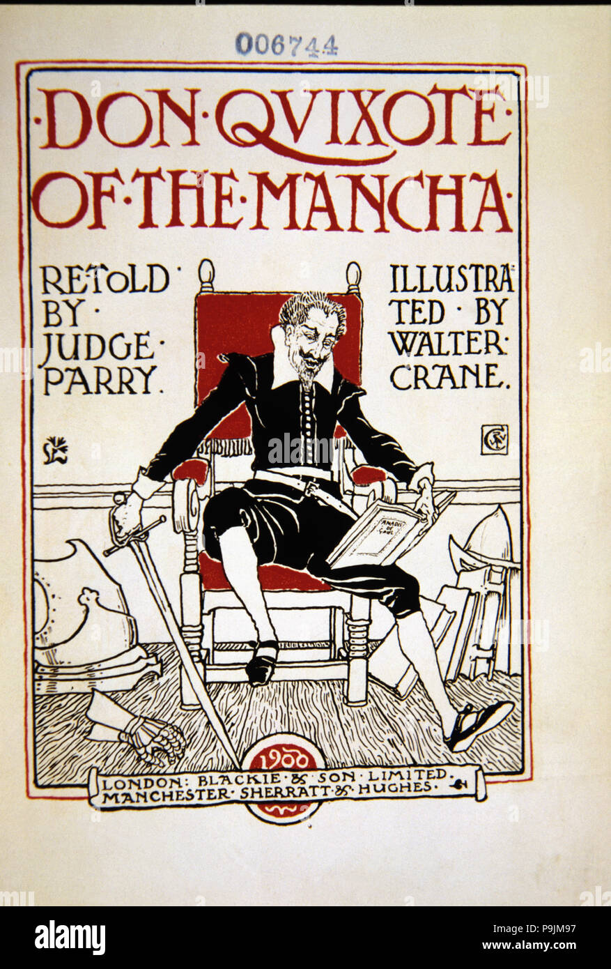 Title Page Of Don Quixote De La Mancha English Edition Adapted By Judge Parry And Illustrated By Stock Photo Alamy