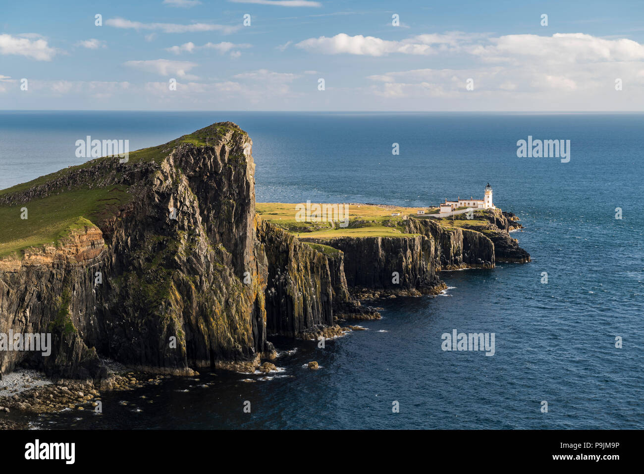 Neist Point, Lighthouse, Isle of Skye, Inner Hebrides, Scotland, United Kingdom Stock Photo