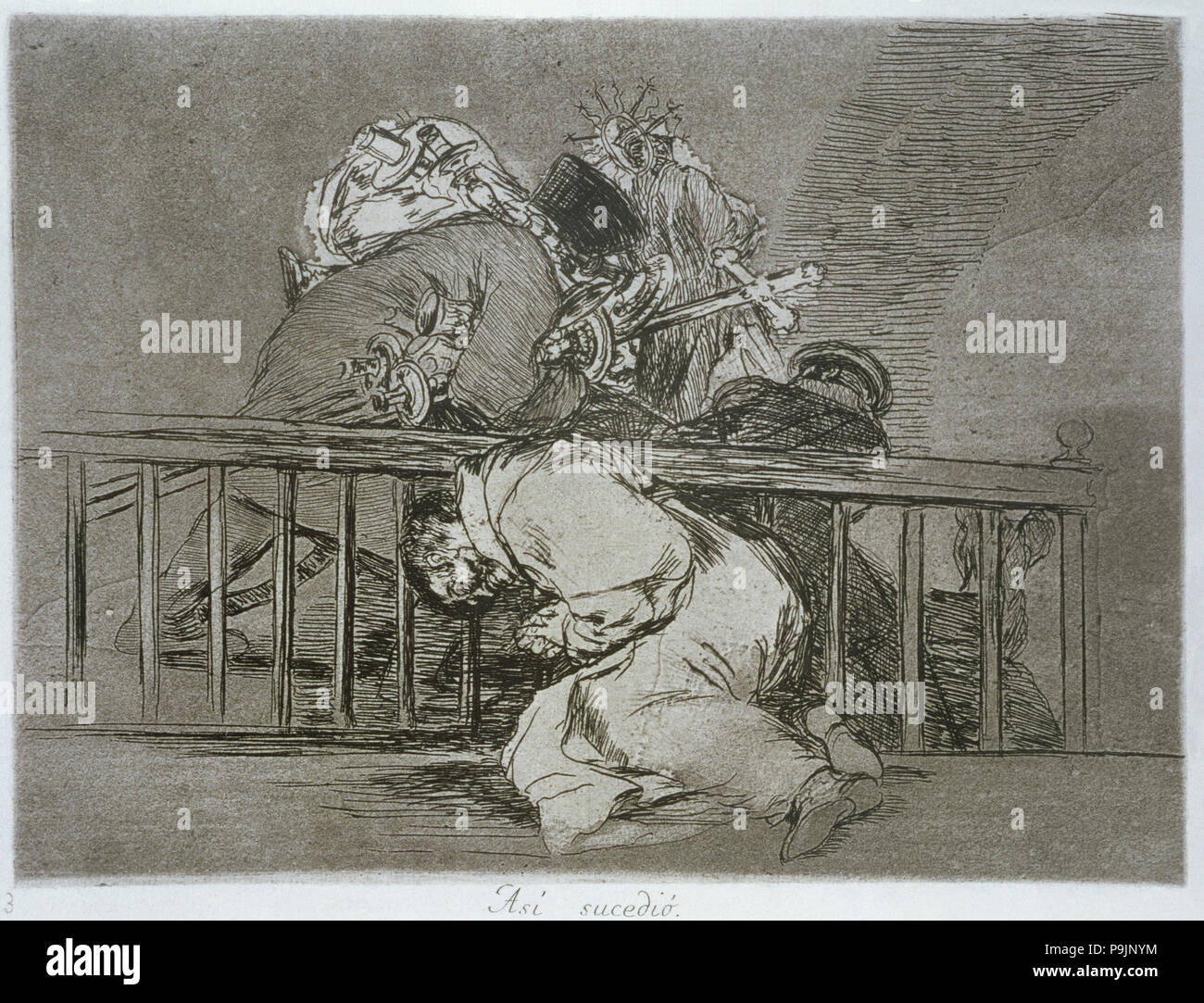 The Disasters of War, a series of etchings by Francisco de Goya (1746-1828),  plate 47: 'Así sucedió' (This is how it happened), first editio