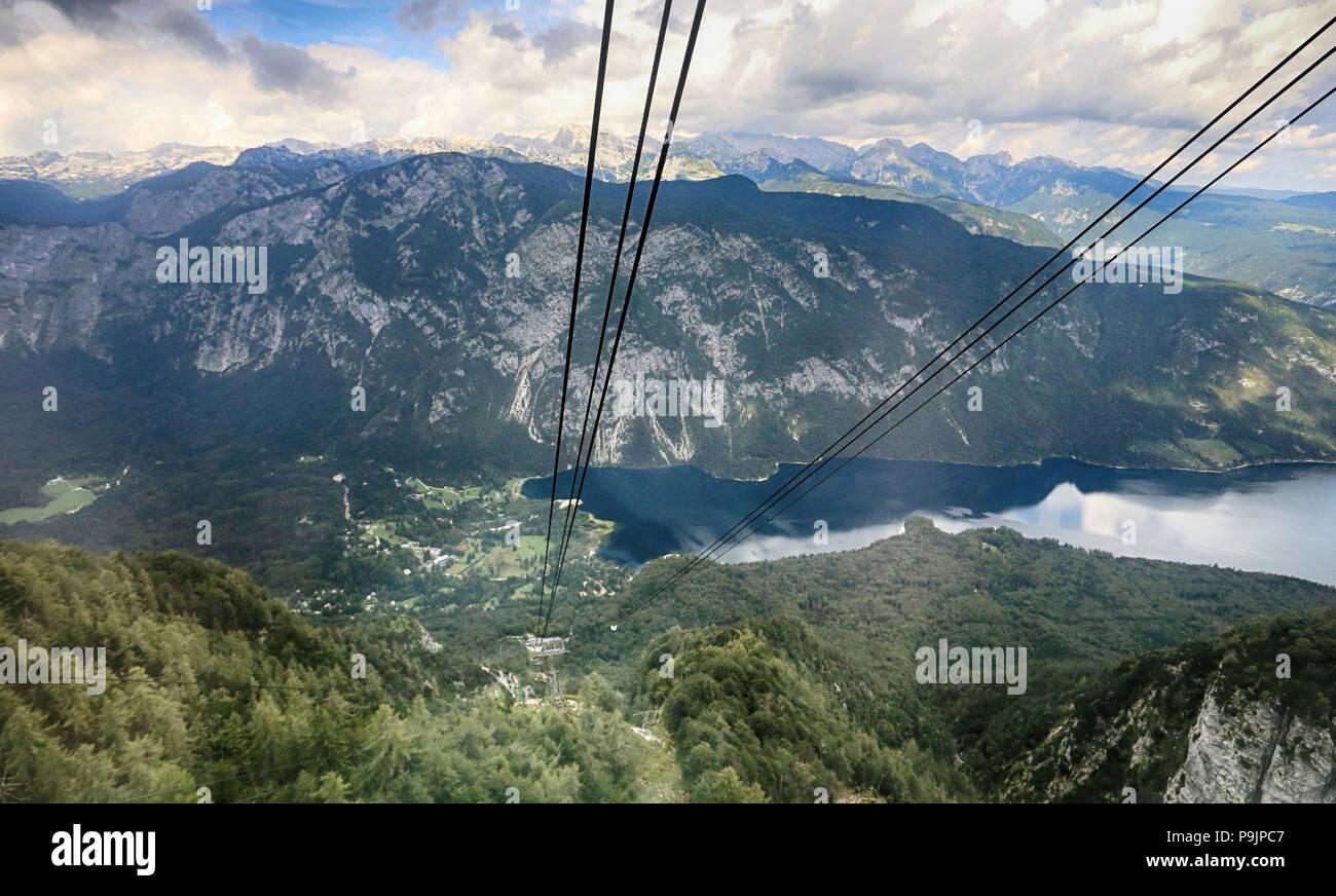 Lake Bohinj Vogel Cable Car - Stock Image