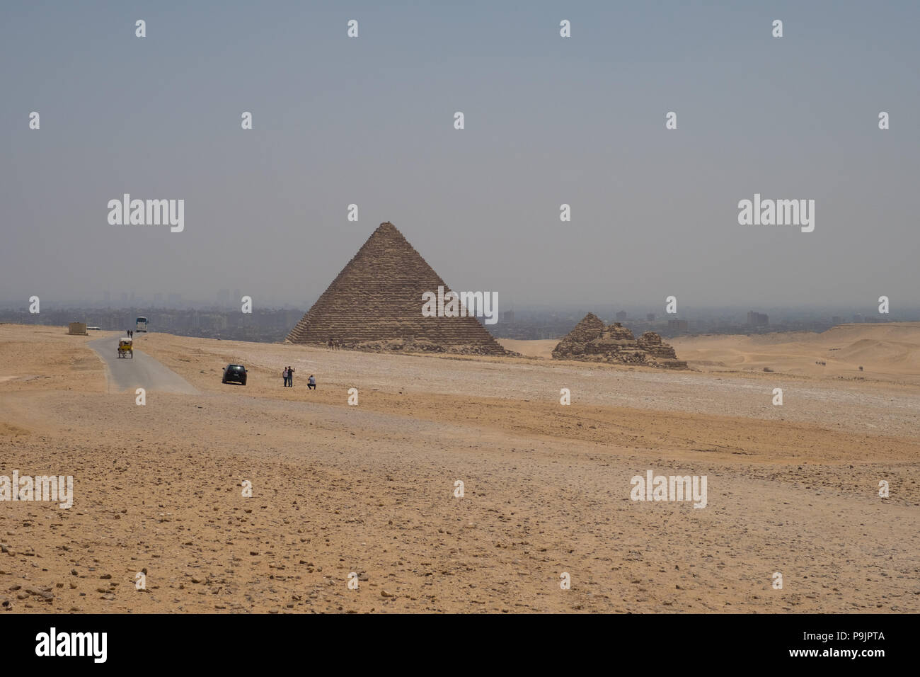 Pyramid of Menkaure, Giza, Egypt - Stock Image