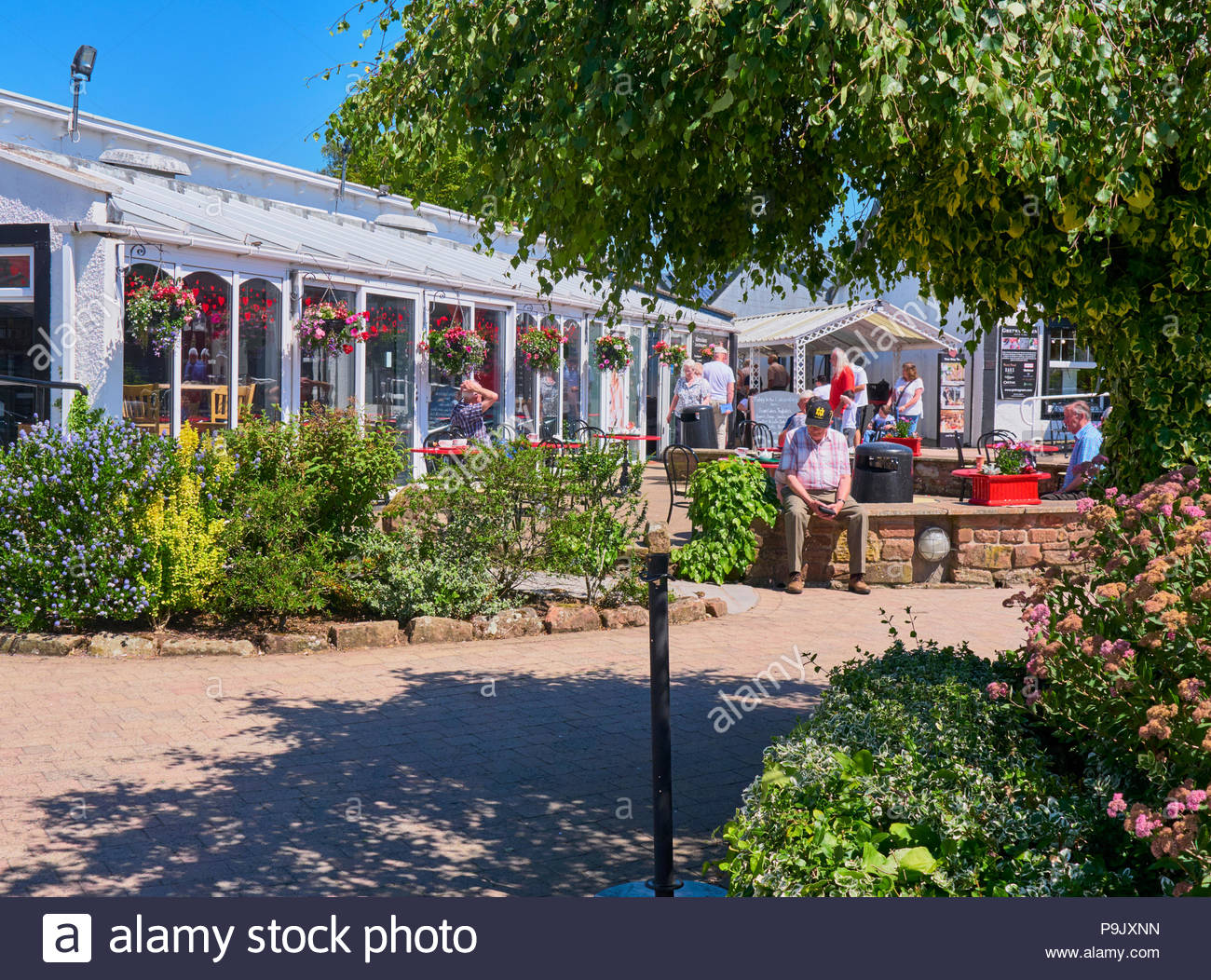 The conservatory cafe bar in gretna green dumfriesshire scotland uk - Stock Image