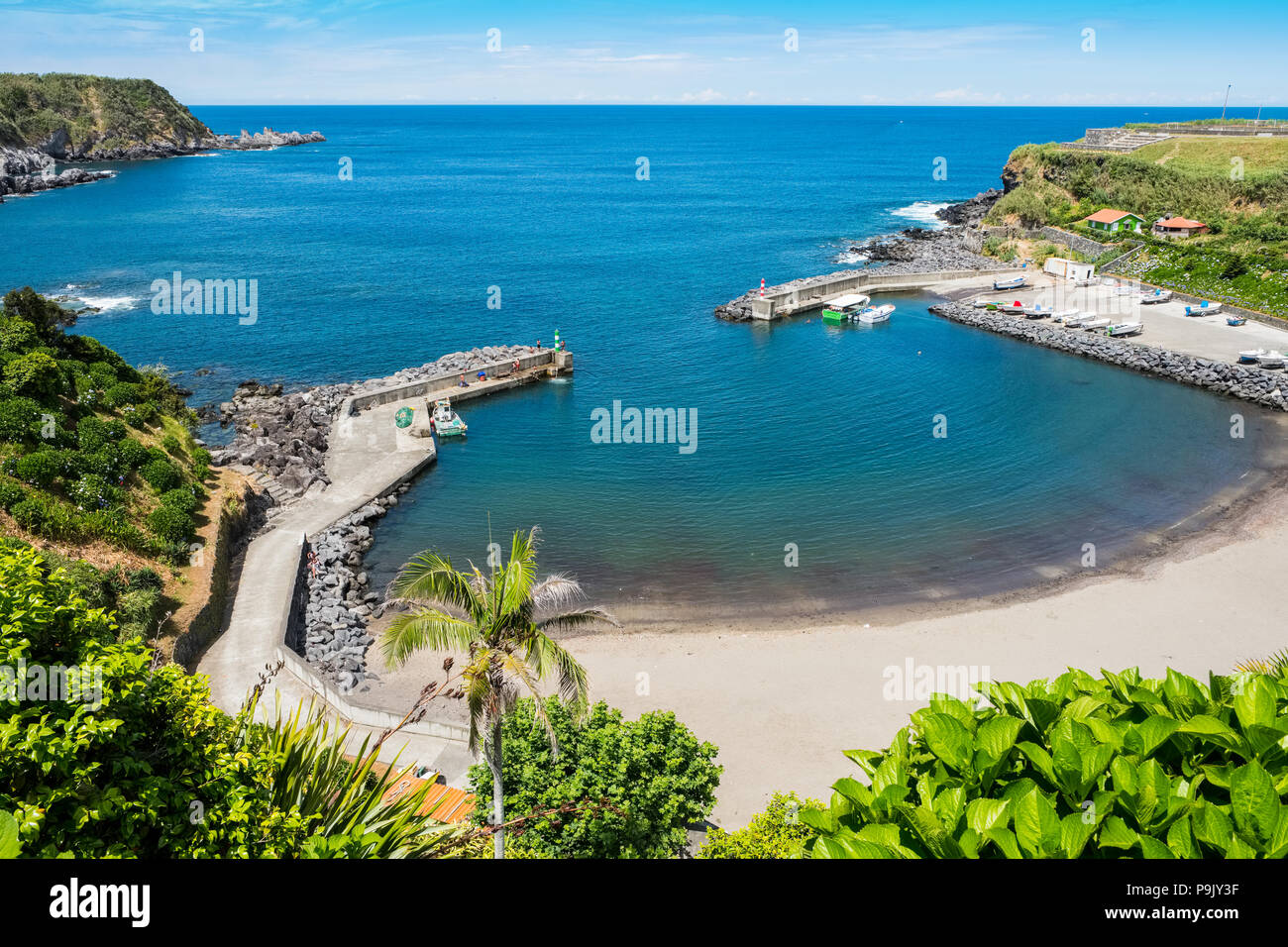 Porto Formosa on the north coast of Sao Miguel, The Azores - Stock Image