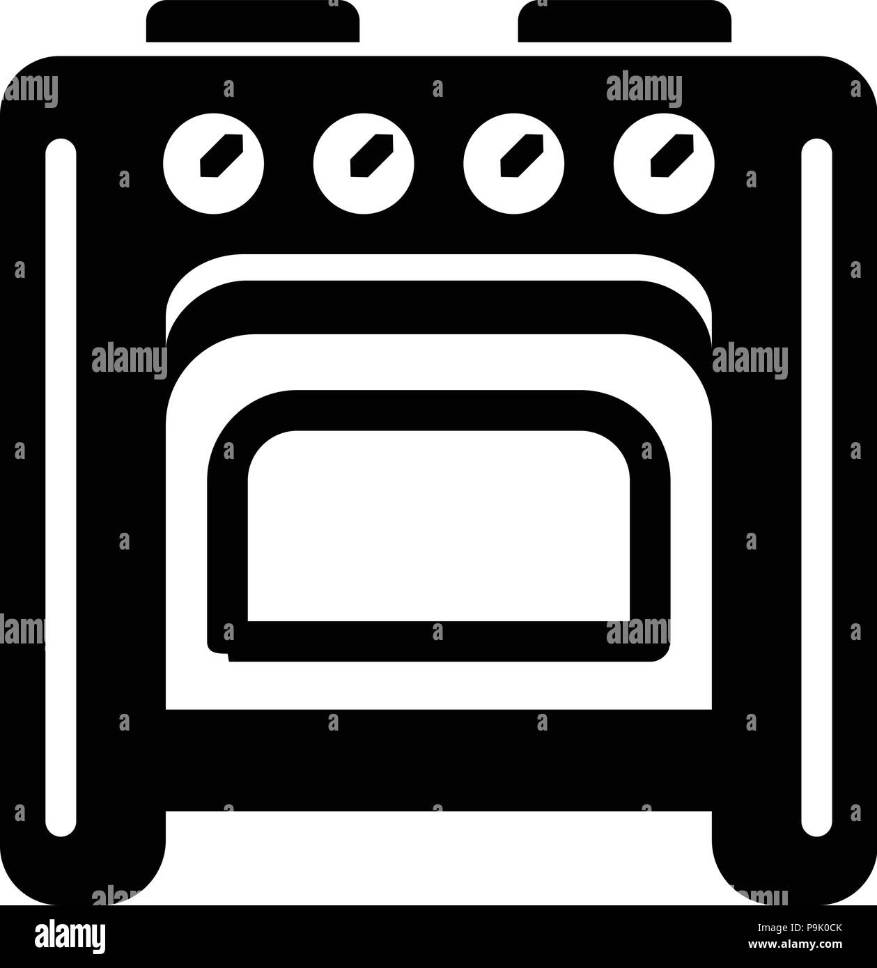 Old oven icon, simple style - Stock Vector