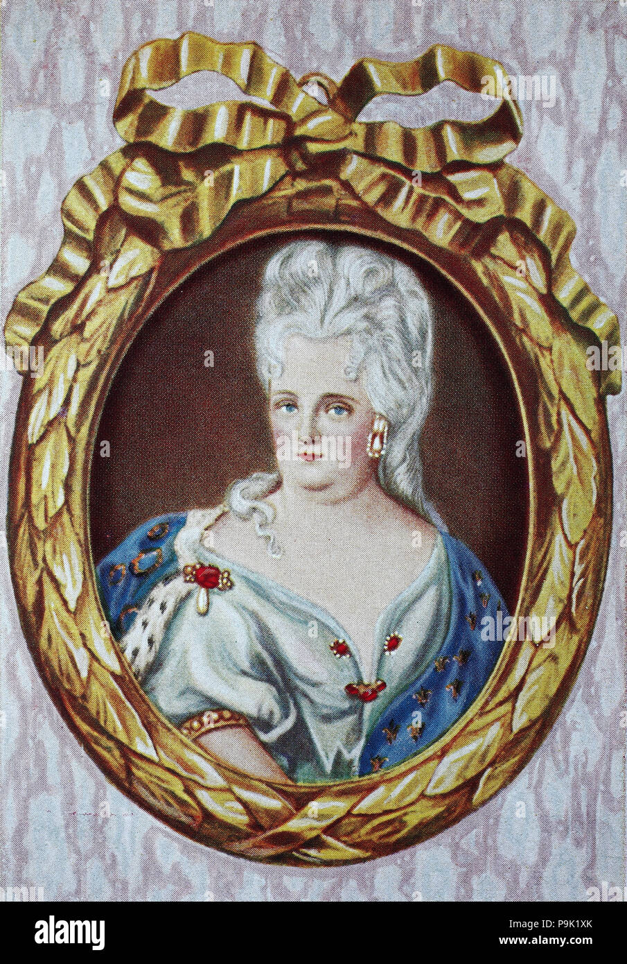 Princess Elisabeth Charlotte, German: Prinzessin Elisabeth Charlotte von der Pfalz, nicknamed Lieselotte, 27 May 1652– 8 December 1722, was a German princess and, as Madame, the second wife of Philippe I, Duke of Orléans, younger brother of Louis XIV of France, and mother of France's ruler during the Regency, digital improved reproduction of an original print from the year 1900 - Stock Image