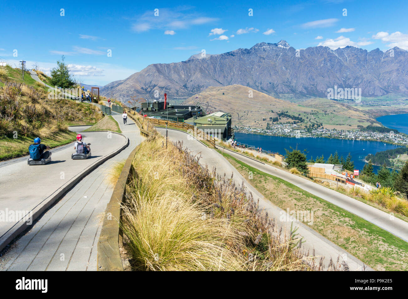Luge Track Stock Photos Images Alamy Ampamp Skyline Singapore 2x Queenstown New Zealand Thrill Ride South Island