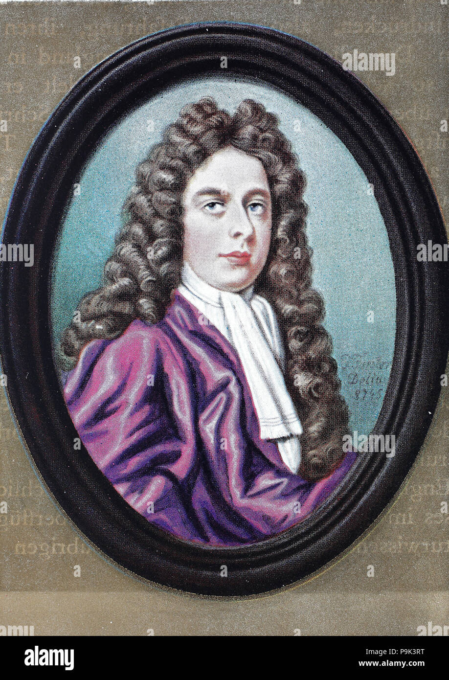 General John Churchill, 1st Duke of Marlborough, 1st Prince of Mindelheim, 1st Count of Nellenburg, Prince of the Holy Roman Empire, 26 May 1650 – 16 June 1722 O.S., was an English soldier and statesman whose career spanned the reigns of five monarchs, digital improved reproduction of an original print from the year 1900 - Stock Image