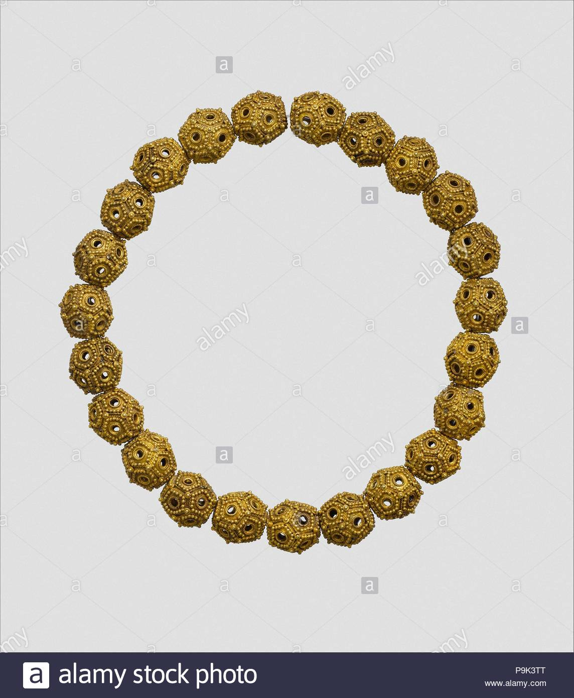 Necklace, 11th–12th century, Attributed to Iran, Gold sheet ...