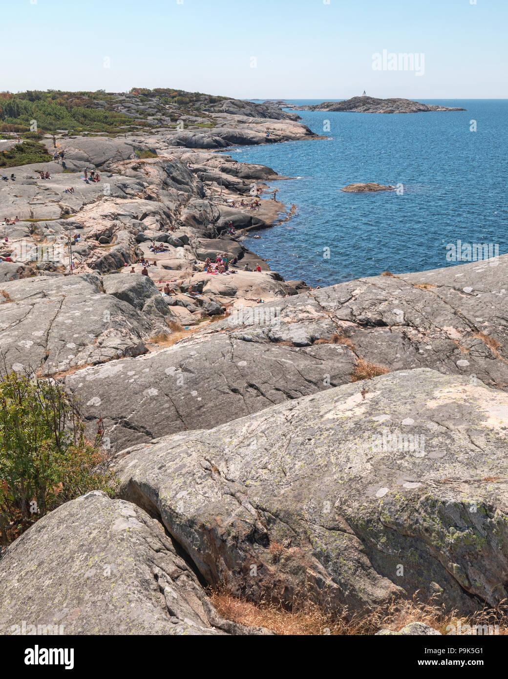Stora Amundön Sweden July 16 2018 View Overlooking The Granite
