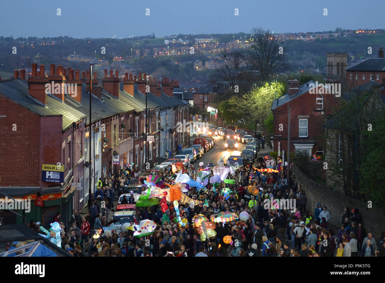 The Sharrow Lantern Festival 2017 in Sheffield, England - Stock Image