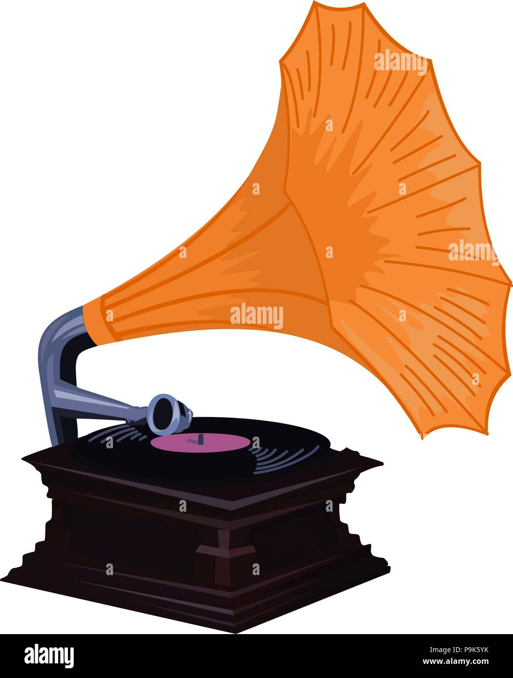 vintage phonograph vector old gramophone digtial graphic with orange shade stock vector image art alamy https www alamy com vintage phonograph vector old gramophone digtial graphic with orange shade image212478103 html