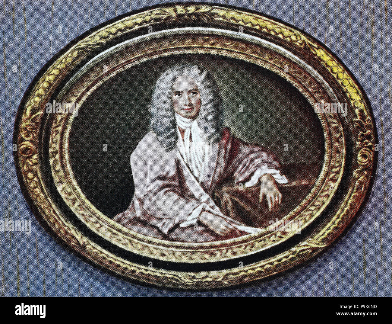 François-Marie Arouet, 21 November 1694 – 30 May 1778, known by his nom de plume Voltaire, was a French Enlightenment writer, historian and philosopher famous for his wit, digital improved reproduction of an original print from the year 1900 - Stock Image