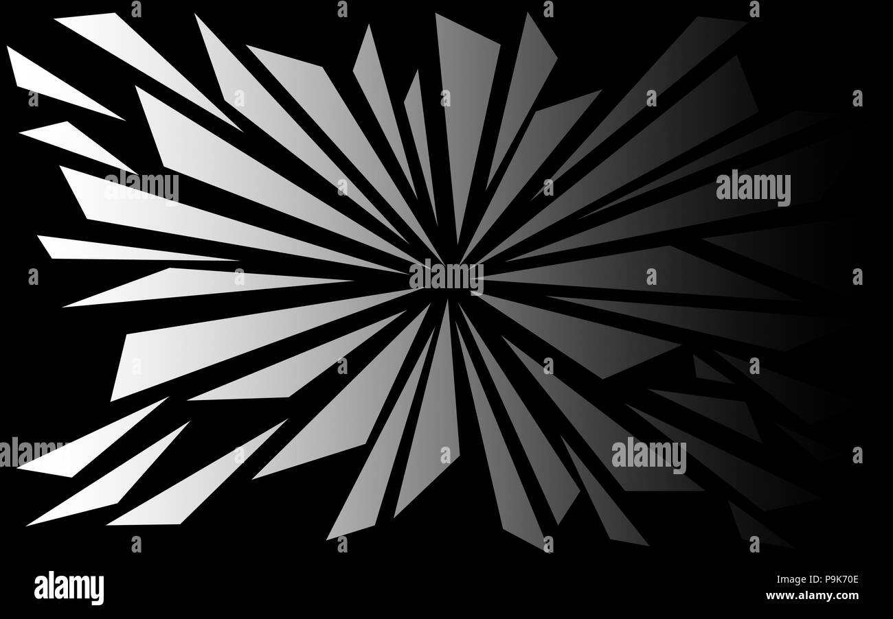 Shattered Black And White Shapes Background