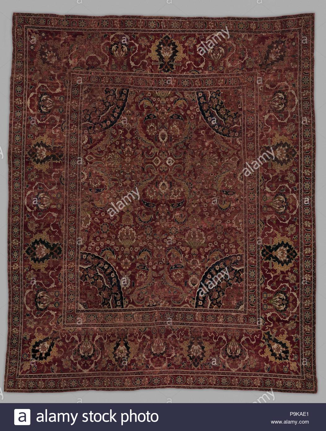 Carpet 17th Century Attributed To Egypt Wool Warp Weft And Pile
