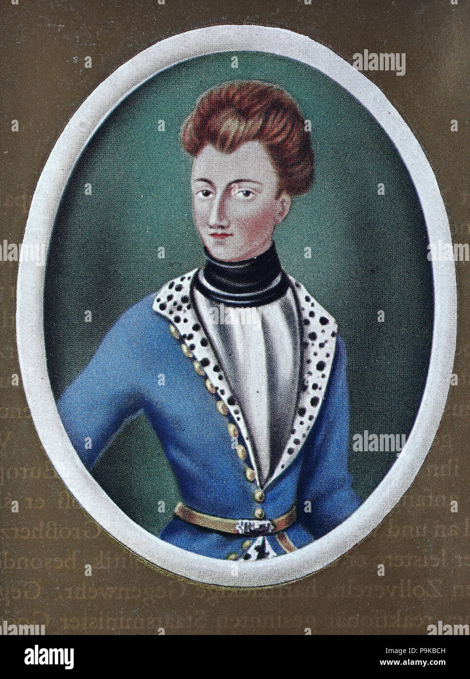 Charles XII, also Carl, Karl XII, 17 June 1682 – 30 November 1718 O.S., Latinized to Carolus Rex, was the King of Sweden from 1697 to 1718. He belonged to the House of Palatinate-Zweibrücken, a branch line of the House of Wittelsbach, digital improved reproduction of an original print from the year 1900 - Stock Image