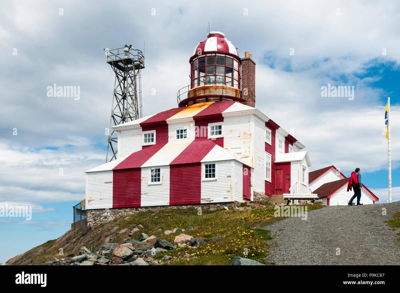 Bonavista lighthouse at Cape Bonavista, Newfoundland. - Stock Image
