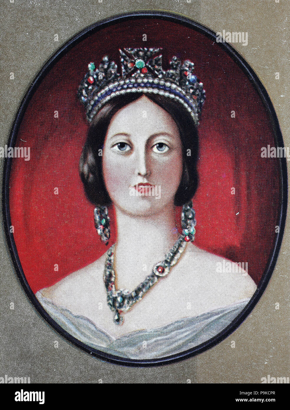 Victoria, Alexandrina Victoria, 24 May 1819 – 22 January 1901, was Queen of the United Kingdom of Great Britain and Ireland from 20 June 1837 until her death, digital improved reproduction of an original print from the year 1900 - Stock Image