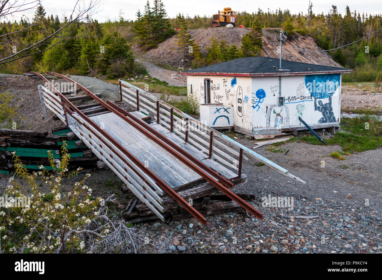 Remains of Trinity Loop amusement park in Newfoundland. DETAILS IN DESCRIPTION. - Stock Image