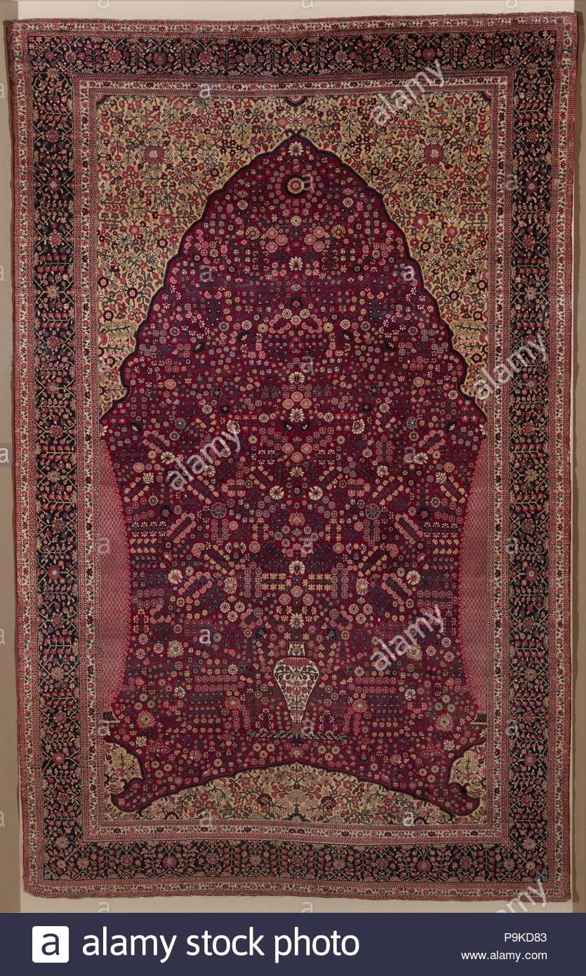 Pashmina Carpet With Gateway And Millefleur Pattern Second Half
