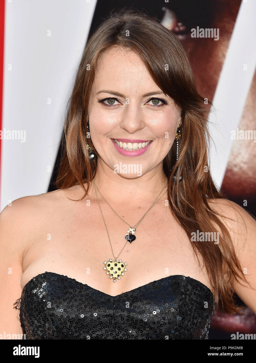 OLGA KAY Russian-American internet celebrity attends the premiere of Columbia Picture's 'Equalizer 2' at TCL Chinese Theatre on July 17, 2018 in Hollywood, California. Photo: Jeffrey Mayer - Stock Image